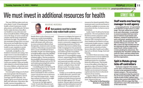 To Defeat COVID-19 and Save Lives, We Must Invest Additional Resources for Health