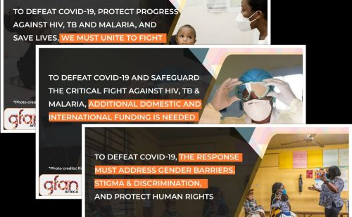 To Defeat COVID-19, Protect Progress against HIV, TB and Malaria, and Save Lives, We Must Unite to  Fight